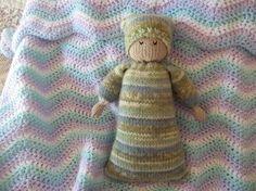 Snuggle Dolly knitting pattern PDF email by quiethomedesigns