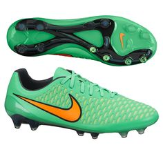 6fc3f2050d21 Nike Magista Opus FG Soccer Cleats (Poison Green Flash Lime Orange)