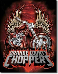 Orange County Chopper Wings Tin Sign