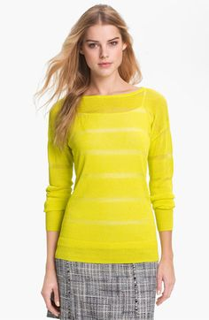 Halogen® Sheer Stripe Sweater available at #Nordstrom $69