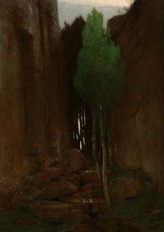 Arnold Bocklin, Spring in a Narrow Gorge, 1881 (source).