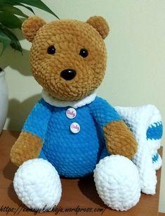 Pizsamás Maci | EniAnyu Kuckója Mac, Teddy Bear, Toys, Amigurumi, Crocheting, Activity Toys, Clearance Toys, Teddy Bears, Gaming