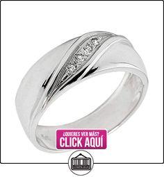 Pequeños Tesoros - Anillos Hombres Alianza De Boda 10 Kt Oro Blanco 471/1000 Diamante  ✿ Joyas para hombres especiales - lujo ✿ ▬► Ver oferta: http://comprar.io/goto/B0127VNJVG
