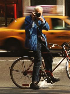 "Bill Cunningham - this guy is amazing, and still at it now at 80+ years old.  New York Times photographer whose ""street style"" photographs appear every Sunday (since the dawn of time).  Check out the interesting documentary on him...it's on Netfilx - I watched it twice!  Luv u Bill!"