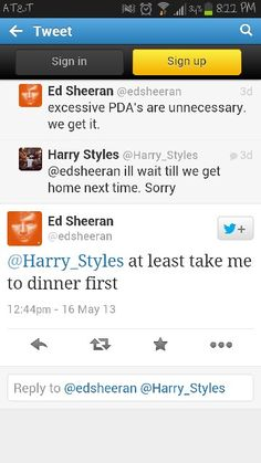 Ed Sheeran and Harry Styles <3