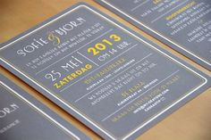 1920s Art Deco Vintage Wedding Invitation // Silver Gray and Yellow by MyCrayonsPapeterie