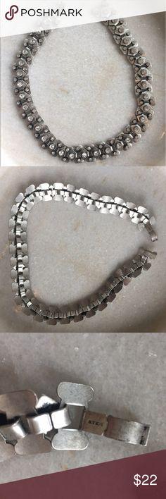 J.Crew Silver Rhinestone Necklace J.Crew Silver Rhinestone Necklace in excellent condition J. Crew Jewelry Necklaces