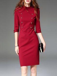 Work Dress for Women - Shop Black & Red Shirt Dresses, Smart Dress & Career Dress for Work Day Dresses, Dresses For Work, Mini Dresses, Dress Suits, Dress Up, Smart Dress, Mode Blog, Business Outfit, Elegant Dresses