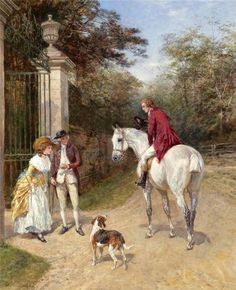 Heywood Hardy~ The Introduction ~ British Victorian PaintingsVictorian British Painting: