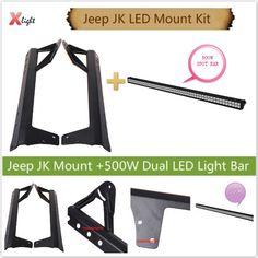 07-13 JEEP WRANGLER JK UPPER WINDSHIELD MOUNT LIGHT BRACKETS 500W LED LIGHT BAR #xenLIGHT