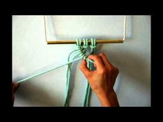 Macrame - How to tie a row of Diagonal Clove Hitch Knots (Right Angle)
