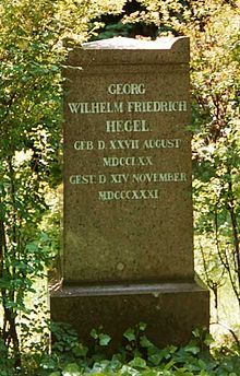 Georg Wilhelm Friedrich Hegel -Hegel's tombstone in Berlin Wikipedia, the free encyclopedia