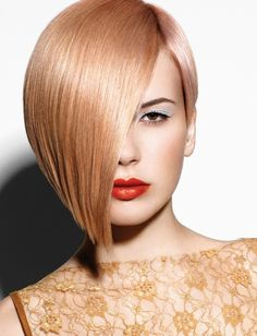 Bob Cut | of hair with a side cut and tapered ends of the short bob haircut ...