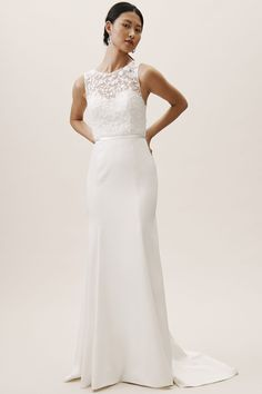 4c80aac5bb75 Winslet Gown Ivory in Bride | BHLDN Wedding Dress Trends, Bhldn Wedding  Dress, Gorgeous