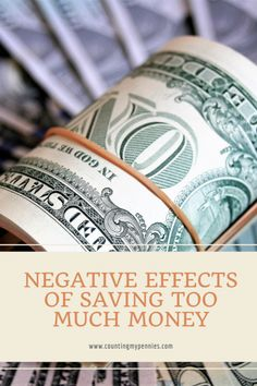 Could you be saving too much money? It seems counterintuitive, but there are negative effects when you save too much. #savingmoney #savemoney #personalfinance #moneytips #moneysavingtips Online Earning, Earn Money Online, Make Money From Home, How To Make Money, Online Checks, Cryptocurrency Trading, Ways To Earn Money, Creating A Blog, Writing Services