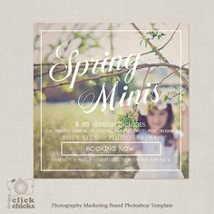 Spring Easter Mini Session Template  for Photographers  by ClickChicksDesigns on Etsy