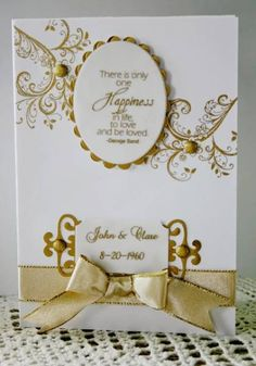 50th wedding anniversary card by Holstein - Cards and Paper Crafts at Splitcoaststampers