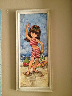 PAIR Mod big eye kitsch 1960s 60s eve lee Keane by babybyrdvintage