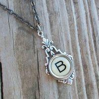 love monogrammed necklace