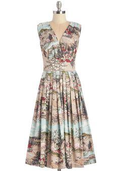 Travelin' Twirl Dress in Country | Mod Retro Vintage Dresses | ModCloth.com