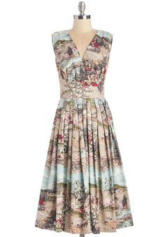 Travelin' Twirl Dress in Country #modcloth #ad *so cute