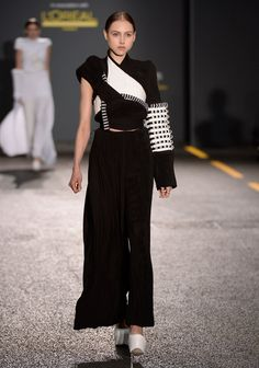Asymmetric and embellished sleeve from Quadrivium (the Latin name given to a collection of four liberal arts that includes number, geometry, music and cosmology), Sang Yoon's collection 2014.