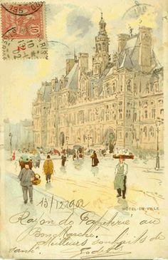 Hotel De Ville, Paris  by Henri Cassiers, 1902