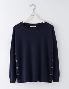 Grace Button Sweater WV094 Knitted Sweaters at Boden