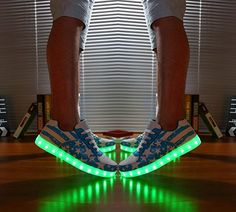 Amazon.com | NIKOO LED Light-up Shoes Unisex Rechargeable Sneakers American Flag Sport Shoes for Couples and Lovers | Fashion Sneakers