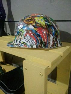 b041fff5aa8 Used Sticker bombed Hardhat (Hydro-dipped) for sale in Omaha - letgo