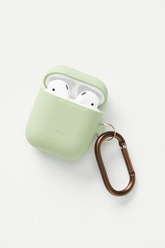 Elago AirPods Hanging Case by elago in Green, Stationery at Anthropologie Cute Ipod Cases, Iphone Cases, Air Pods, Airpod Case, Phone Wallet, Apple Products, Phone Accessories, Gifts For Mom, Grad Gifts