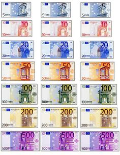 Euro, also, lots of French printables French Classroom, Spanish Classroom, French Teacher, Teaching French, Billet En Euros, Paper Toys, Paper Crafts, Barbie Miniatures, Doll House Crafts