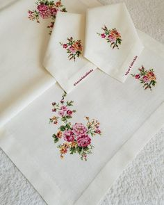 Crewel Embroidery, Embroidery Designs, Punch Needle, Cross Stitching, Cross Stitch Patterns, Needlework, Handmade, Cross Stitch Rose, Table Clothes