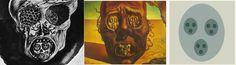 Salvador Dali painted a rather horrid Fractal Face (similar to a circular version of the Cantor Set)