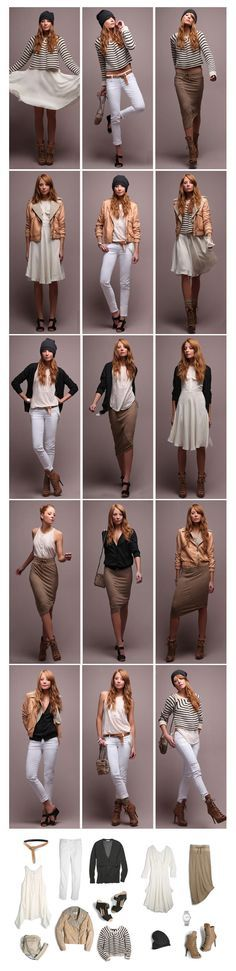 great way to assemble several outfits from a few items, especially for travel.