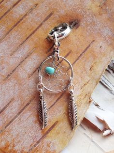 Dreamcatcher Charm Dreadlock Bead Silver by PurpleFinchStore