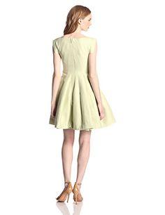HALSTON HERITAGE Women's Silk Faille Cap-Sleeve Structured Cocktail Dress • Shopping Cheap Online