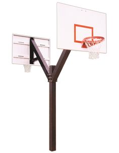 First Team Legend Playground DUAL In Ground Fixed Height Outdoor Basketball Hoop 60 inch Steel from NJ Swingsets
