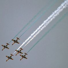Pakistani jets perform during preparations for the forthcoming celebrations to mark Defence Day's golden jubilee in Islamabad. Pakistan Defence, Jets, Pakistani, Air Force, Celebrations, Military, Instagram Posts, Luftwaffe, Army