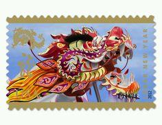 Lunar new year stamp