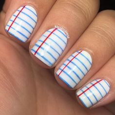 Notebook back to school nails