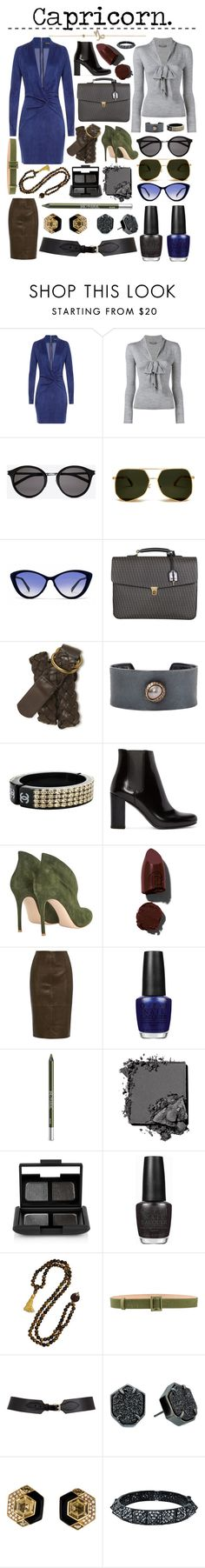 """Capricorn"" by effulgentsoul ❤ liked on Polyvore featuring Jitrois, Alexander McQueen, Yves Saint Laurent, Italia Independent, Aéropostale, Todd Reed, Chanel, Gianvito Rossi, Lipstick Queen and OPI"