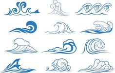 Wave graphics vector material  3