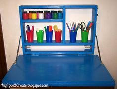 My Love 2 Create: Pull Down Art Desk, and why not have chalkbord on the back :-)