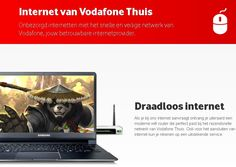Natuurlijk kunt u via glasvezel van Vodafone ook gebruik maken van een draadloos netwerk, u krijgt een draadloze router geleverd bij uw abonnement.