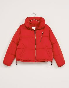 red puffy jacket outfit | My Style & Outfits | Pinterest | Puffy ...
