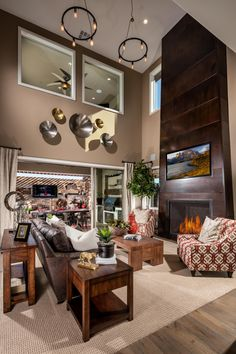 Marvel at high-vaulted ceilings at the luxurious Altura Provenza model home in Las Vegas, Nev.