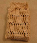 Dropped stitch soap sack
