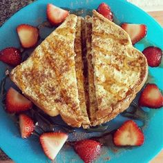 Light French Toast With Strawberries