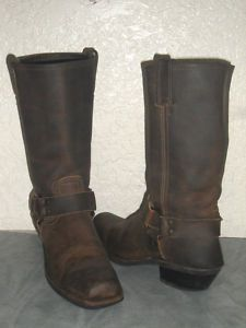 Womens Frye Brown Leather Pull On Harness Boots Size 8  I WANT THESE!